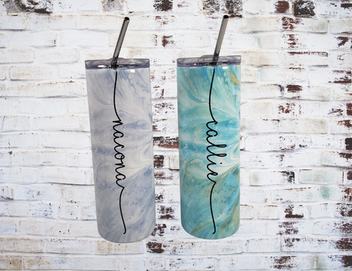 Personalized Insulated Tumbler with Reusable straw