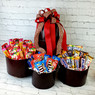 The gift of sweet assorted candy this Valentines.  Includes Starburst, M&M's, Snickers, Crunch Bars, Skittle and Gummie Lifesavers.  This is a perfect gift for a large group or just to that special someone.