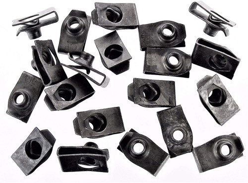 "1/4""- 20 Thread Extruded U-Nut Clips 17/32 Center to Edge (Qty 25) #79"