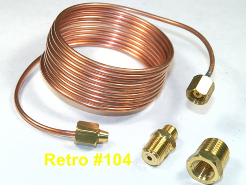 "Copper Oil Line Kit For Mechanical Oil Gauge w/ Fittings 72"" Oil Line Tubing Kit #104"