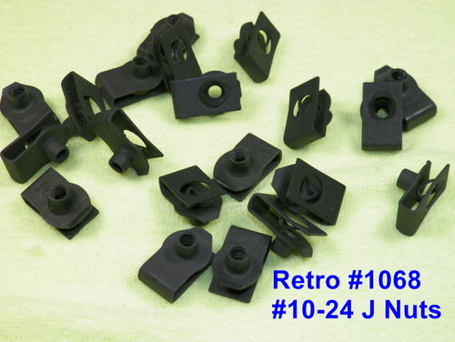 #10-24 Mopar J Nuts Chrysler Dodge Plymouth #10-24 J-Nuts (Qty 20) #1068M