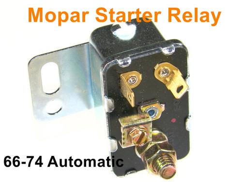 Mopar Starter Relay 1966-74 A/B/C/E Body Automatic Charger Cuda Road Runner Dart #105