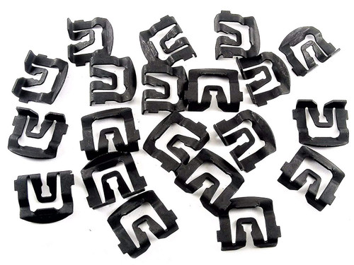 Windshield & Rear Window Trim Clips Fits 64-93 Ford (Qty-20 Clips) #120