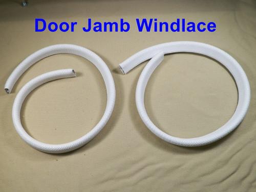 Mopar Door Jamb Windlace 67-74 A Body Dart Cuda Duster Demon Valiant WHITE PR #63W