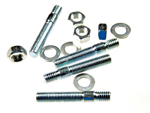 """2"""" Carb Studs w/ Nuts & Washers Zinc Coated Use With Holley Demon Edelbrock Carb #137"""