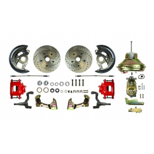 "'67 - '69 F Body GM, 11"" Booster, Red Show'N Go - Power Disc Conversion Kit #AFXDC02CZ"