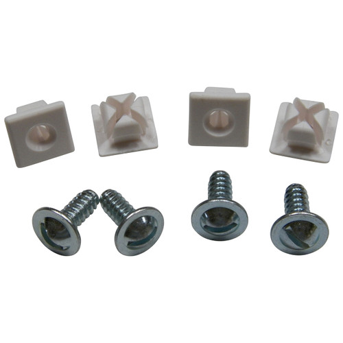 "#14 License Plate Screws & Nylon Nuts #14 x 5/8"" (Qty-4 Screws/4 Nuts) #58"