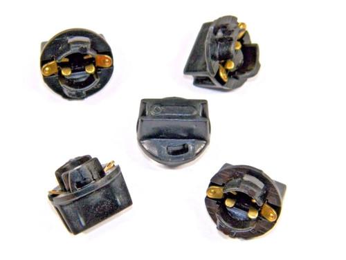 "1974-88 Dodge Ramcharger 1/2"" Dash Bulb Sockets for #194 Bulbs (5 Pk) #206D"