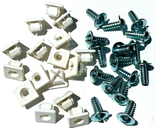 "License Plate Screws & Nylon Nuts #14 x 5/8"" (Qty-16 Each) #59"