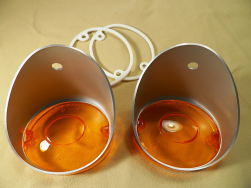 70-74 Challenger Park Lamp Lenses 70 Charger Licensed New Pair #1396