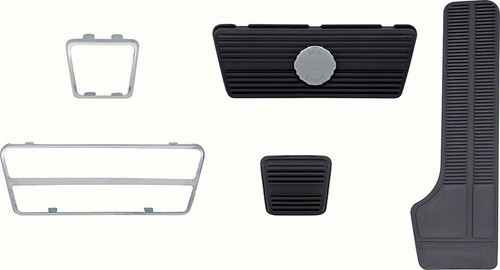 Pedal Pad Kit With Bezels for 69-81 Camaro With Auto Trans Disc Brakes #1424