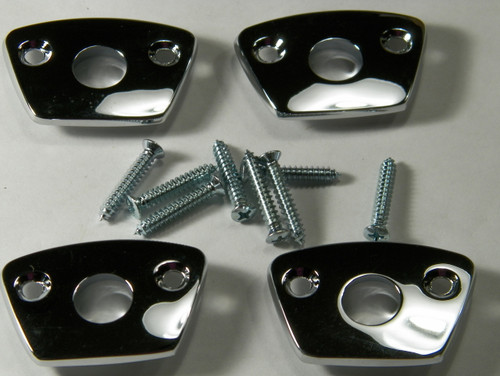 69 70 Charger Road Runner Chrome Headrest Bezels New Set of 4 Bezels #1439
