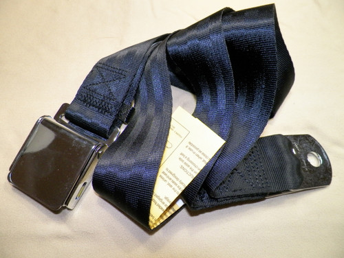"Seat Belt Aviation Style Lap Belt 75"" Black #1448"