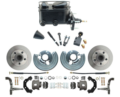 62-72 Mopar B & E Body Front Disc Brake Conversion Kit Std Manual Master #1464