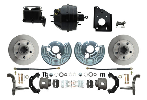66-70 Mopar B Body Front Disc Brake Conversion Kit w/ Booster Charger GTX #1473