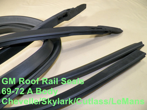 Roofrail Roof Rail Weatherstrip Seal Pair Set for 69-72 Pontiac Grand Prix
