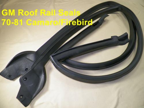 70-81 Camaro Firebird Roof Rail Weatherstrip Seals 2 DR Hardtop Models #1524
