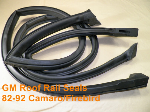 82-92 Camaro Firebird Roof Rail Weatherstrip Seals 2 Door Hardtop Models #1525