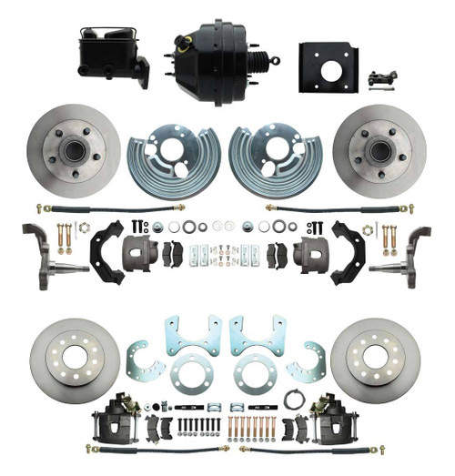 70-74 Mopar E Body 71-74 B Front & Rear Disc Brake Conversion Kit with Booster #1527