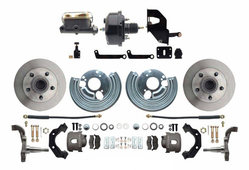 62-72 Mopar A Body Front Power Disc Brake Conversion Kit 5 x 4.5 Bolt #1530