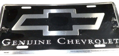 Classic Car License Plate Bowtie Genuine Chevrolet #1285