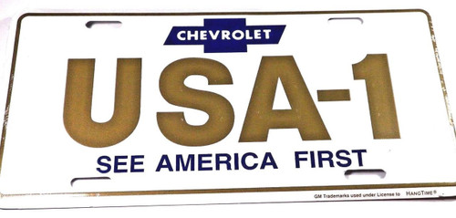 Classic-Car-License-Plate-Chevy-USA-1-See-America-First-#1280
