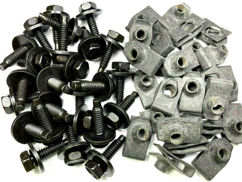 1/4 Body Bolts & Extruded U-Nut Clips 1/4-20 x 15/16 (25 Pcs Each) #1592 (78/79)