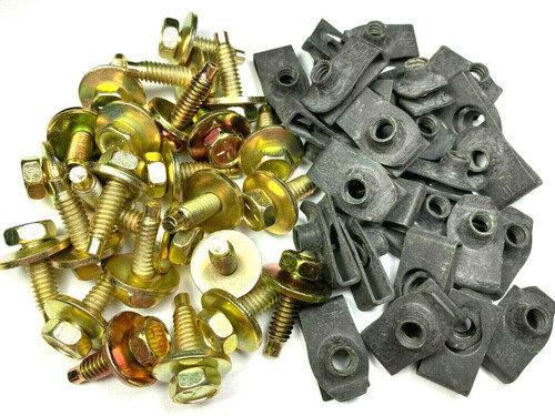 "1/4"" Body Bolts & Extruded U-Nut Clips (25 Each) #1594 (1356-79)"