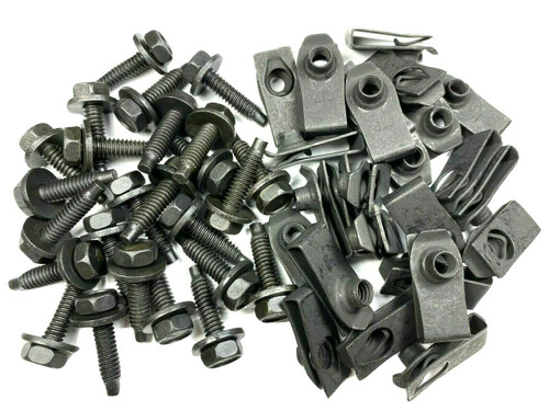 "1/4"" Body Bolts & Extruded U-Nut Clips 1/4-20 x 1"" (Qty-25 Each) #1605 (675/864)"