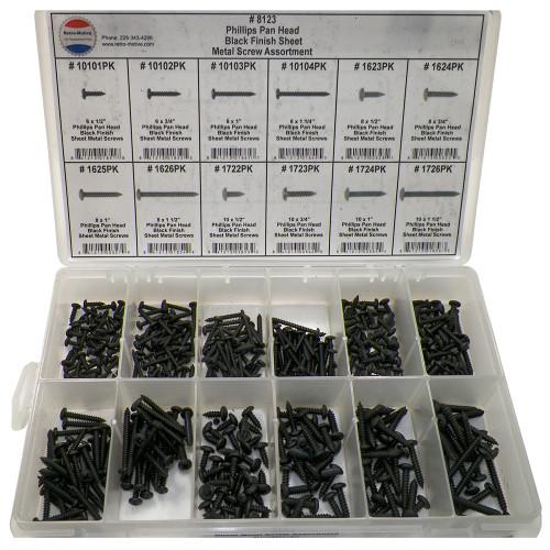 Phillips Pan Head Sheet Metal Screw Assortment 12 Sizes (420 Pcs) #1621