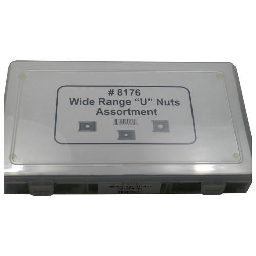 Wide Range U Nuts Assortment 6 Sizes (210 Pcs) #1624