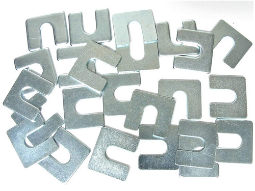 "Fender & Body Shims 1/16 & 1/8 Thick 3/8"" Slot Fit GM Ford Mopar Qty-12 EA (2132/2134) #2131"