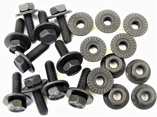 Body Bolts & Flange Nuts M6-1.0mm x 20mm Long- 10mm Hex 10 Ea (1906/1924) #2120