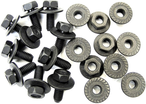 Body Bolts & Flange Nuts M6-1.0mm x 16mm Long 10mm Hex (10 Ea) #2110 (1915/1924)
