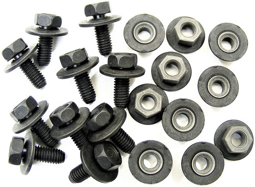Body Bolts & Barbed Nuts M6-1.0mm x 16mm Long 10mm Hex 10 Ea (1915/1922) #2109