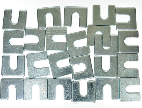 "Body Alignment Shims 1/8"" Thick 3/8"" Slot Fit GM Ford Mopar (Qty-24) #2134-24"