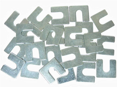"Body Alignment Shims 1/16"" Thick 3/8"" Slot Fit GM Ford Mopar (Qty-24) #2132-24"