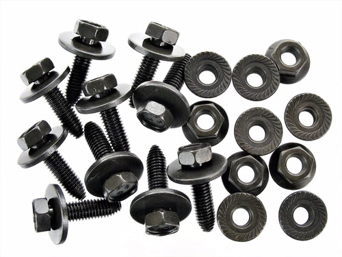 Body Bolts & Flange Nuts M8-1.25mm x 30mm- 13mm Hex (10 Ea) #1858 (1899/1917)