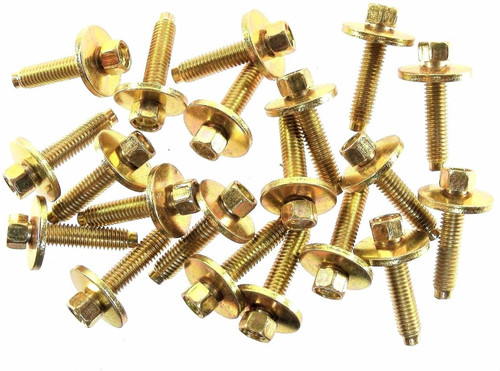 Metric Body Bolts M6-1.0mm Thread- 28mm Long- 8mm Hex (Qty-20) #1912
