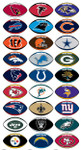 NFL Football Vending Machine Stickers
