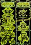 Pirates Glow In The Dark Vending Tattoos