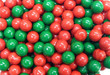 Sixlets Chocolate Candy Green and Red Mix