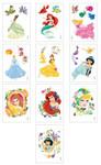 Disney Princess Glitter Vending Tattoos