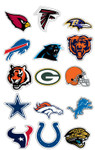 NFL Team Logo Vending Machine Stickers