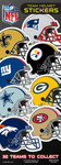 NFL Team Helmet Vending Machine Stickers