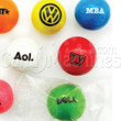 Custom Logo Printed Clear Wrapped Gumballs - 1 Inch