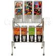 Northwestern 7 Unit Toy and Gumball Vending Machine Combo II