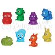 Animal String Dolls with Mini-Malz Figurines Vending Capsules