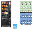 Dual Zone Snack and Soda Vending Machine 25 Selections