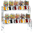 10 Unit Candy and Gumball Vending Machine Combo - Chrome